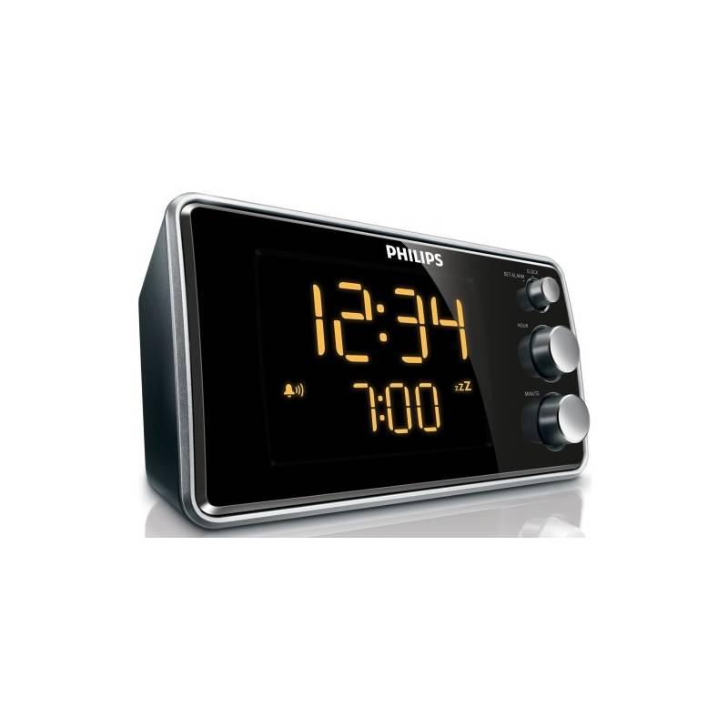 Rádiobudík Philips Clock radio AJ 3551 čierny/strieborný