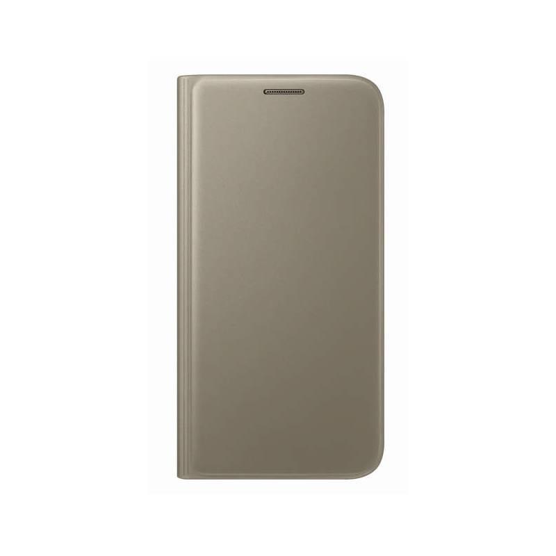 Puzdro na mobil flipové Samsung pro Galaxy S7 (EF-WG930P) (EF-WG930PFEGWW) zlaté