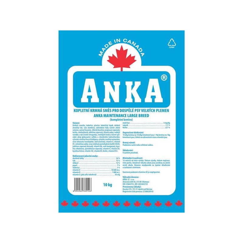 Granule ANKA Maintenance Large Breed 10 kg, pro dospělé psy