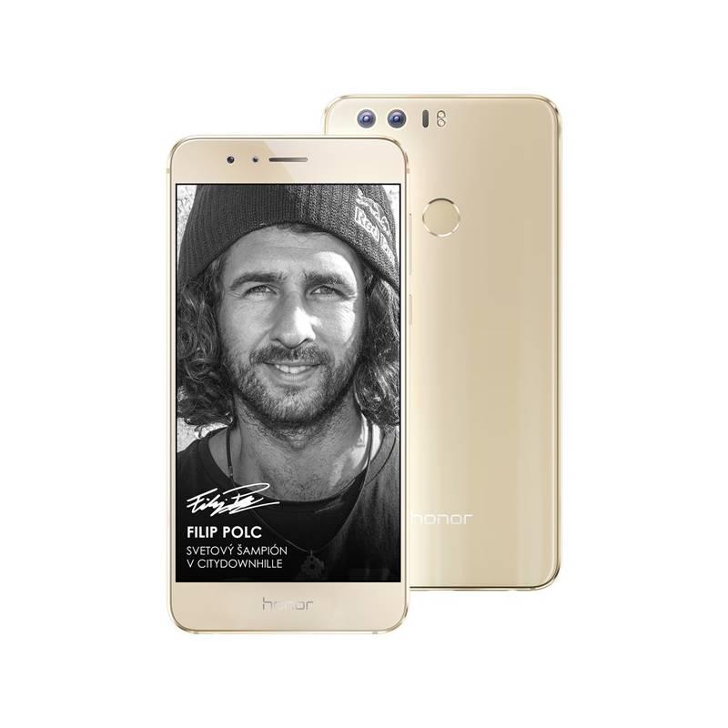 Mobilný telefón Honor 8 Dual SIM Premium 64 GB zlatý Software F-Secure SAFE 6 měsíců pro 3 zařízení (zdarma) + Doprava zadarmo