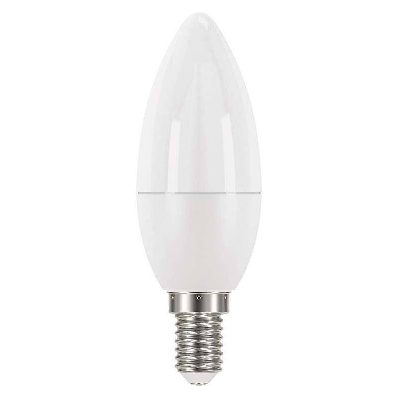 LED žiarovka EMOS klasik svíčka, 6W, E14, studená bílá (1525731100)