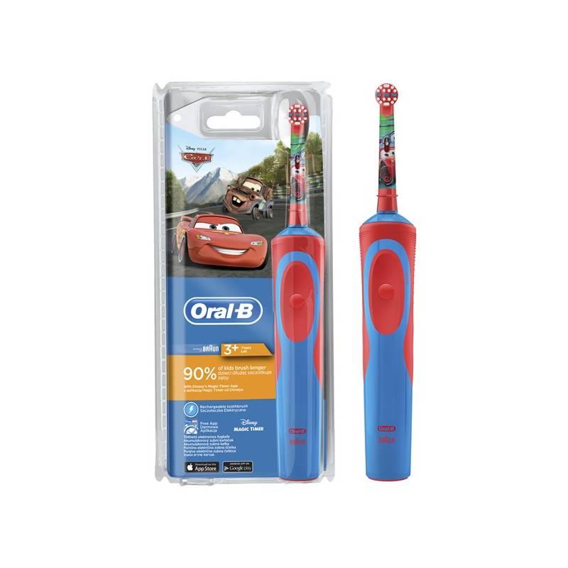 Zubná kefka Oral-B Vitality Cars červený/modrý