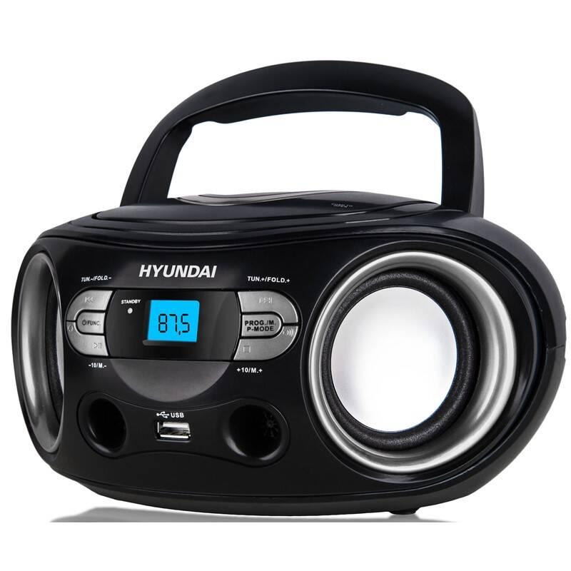 Rádioprijímač s CD Hyundai TRC 533 AU3BS čierny/strieborný