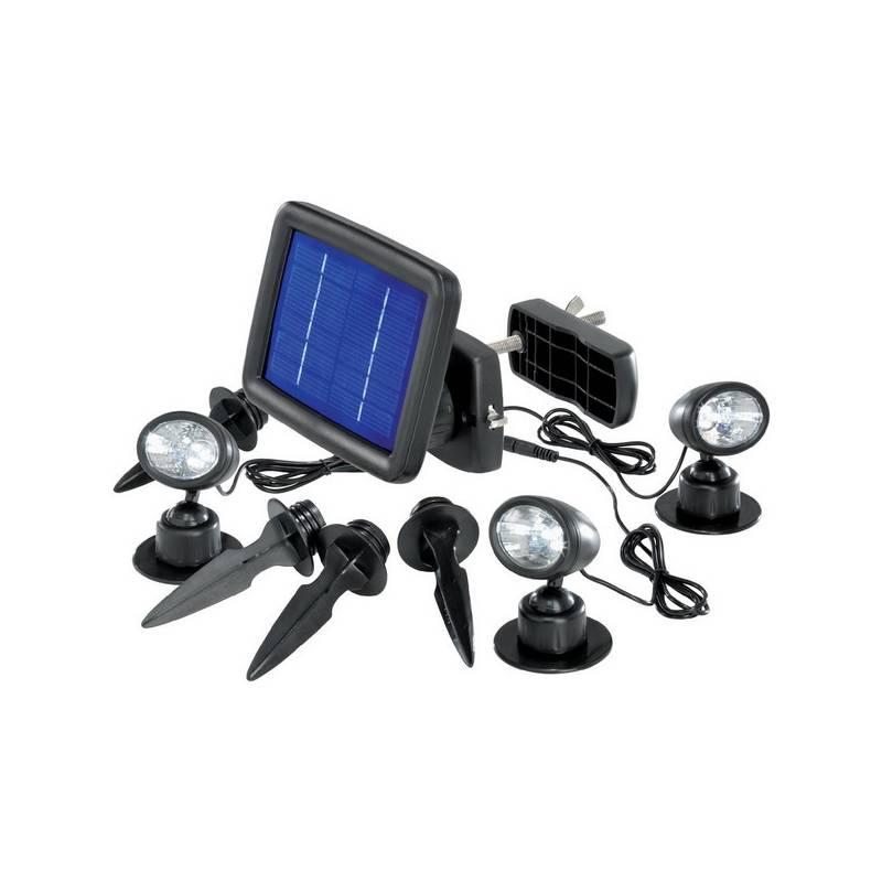 Svietidlá CNR LED Renkforce, solární čierne