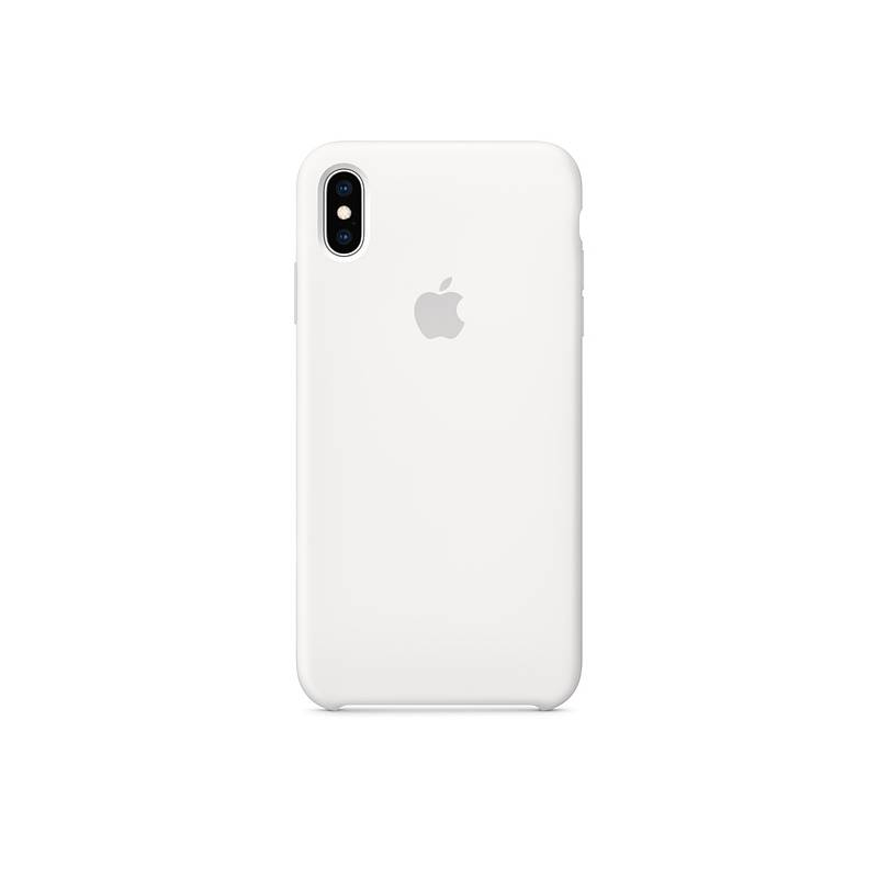 Kryt na mobil Apple Silicone Case pro iPhone Xs Max (MRWF2ZM/A) biely