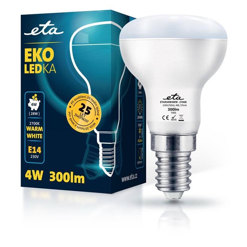 LED žiarovka ETA EKO LEDka reflektor 4W, E14, teplá biela (R50W4WW)
