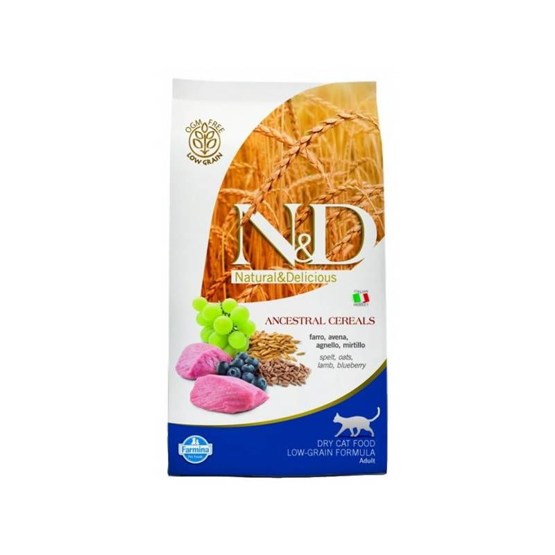 Granule N&D Low Grain CAT Adult Lamb & Blueberry 10 kg