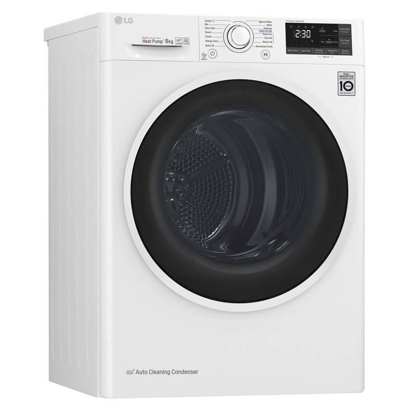Sušička bielizne LG RC82EU2AV4Q biela Medzikus práčka - sušička s výsuvom LG DSTWH biely + Doprava zadarmo