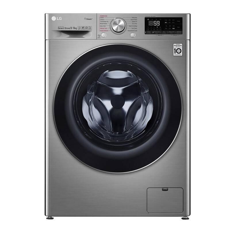 Pračka se sušičkou LG F4DV709H2T stříbrná + LG 10 let záruka na invertorový motor