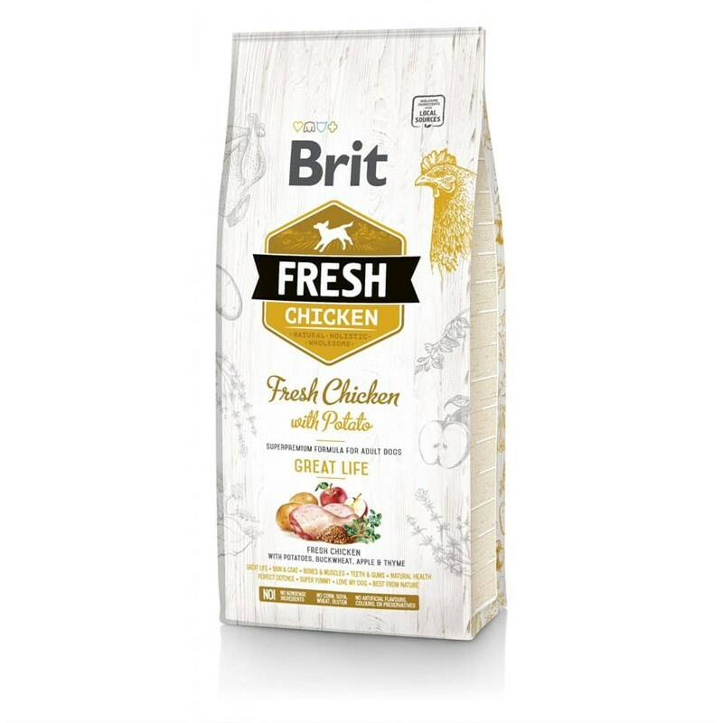 Granuly Brit Fresh Dog Chicken with Potato Adult Great Life 2,5 kg
