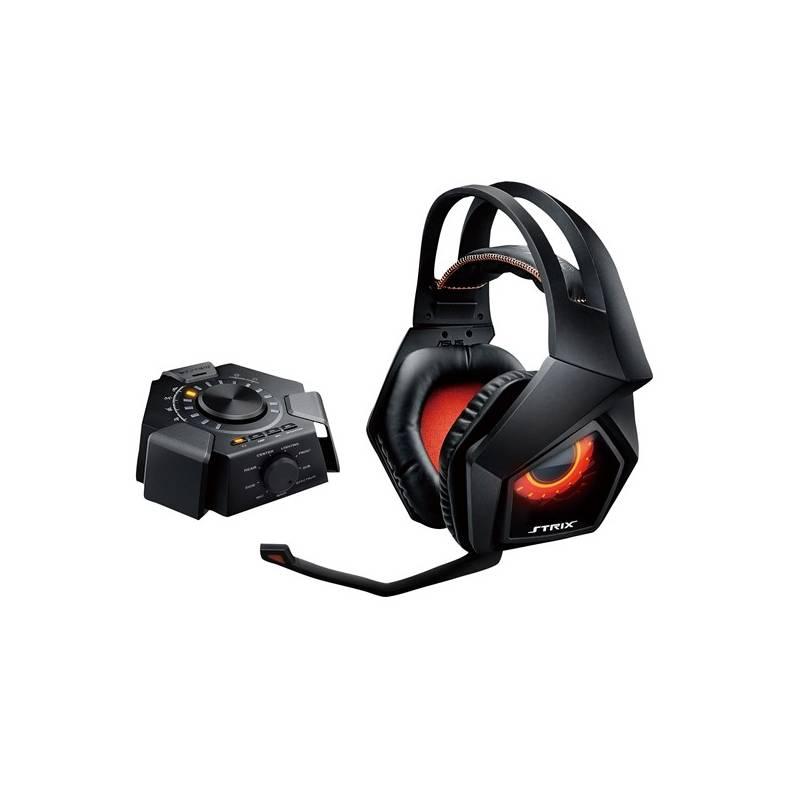 Headset Asus STRIX 7.1 (90YH0091-M8UA00) čierny/oranžový