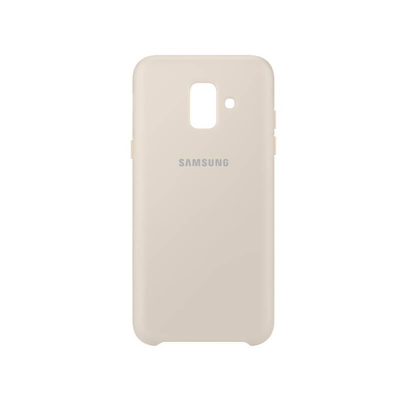 Kryt na mobil Samsung Silicon Cover pro Galaxy A6 (EF-PA600CFEGWW) zlatý