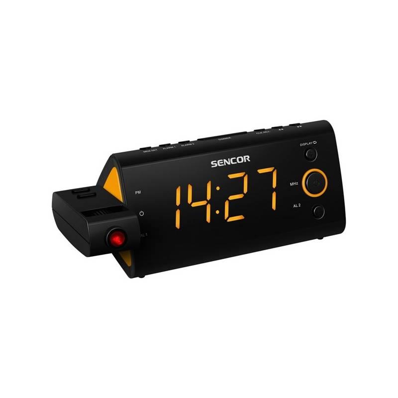 Rádiobudík Sencor SRC 330 OR čierny/oranžový