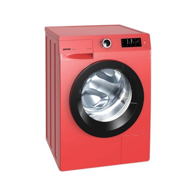 Automatická práčka Gorenje W 7543 LR červená + Doprava zadarmo