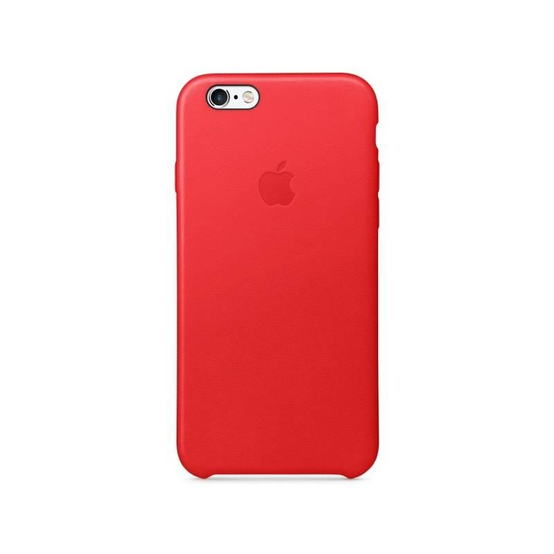 Kryt na mobil Apple Leather Case pro iPhone 6/6s (PRODUCT)RED™ (MKXX2ZM/A) červený