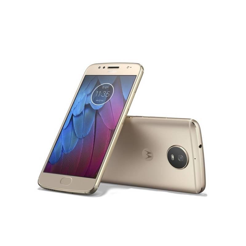 Mobilný telefón Motorola G5s, zlatá (444546)