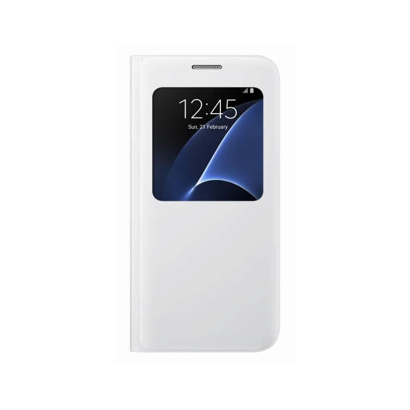 Púzdro na mobil flipové Samsung S-View na Galaxy S7 (EF-CG930P) (EF-CG930PWEGWW) biele