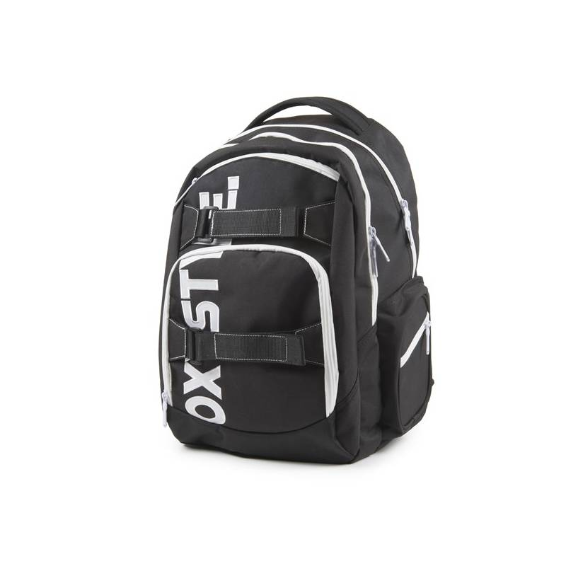 Batoh školský P + P Karton OXY Style Black & White študentský Sáček na přezůvky P + P Karton OXY Neon Dark Blue (zdarma)