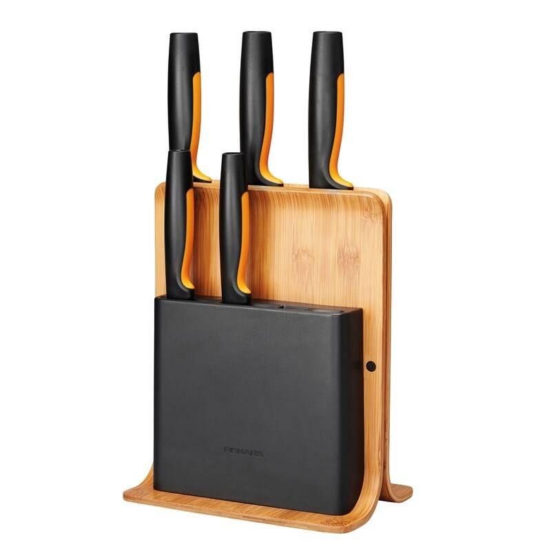 Sada kuchynských nožov Fiskars Functional Form 5 ks + blok + Doprava zadarmo