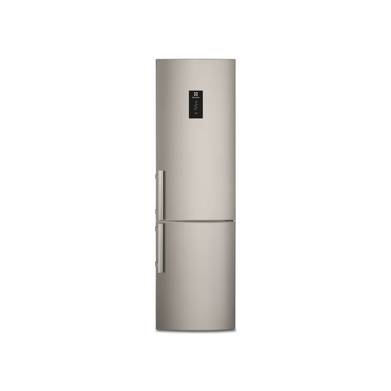 Kombinácia chladničky s mrazničkou Electrolux EN3855MFX sivá/nerez + Doprava zadarmo