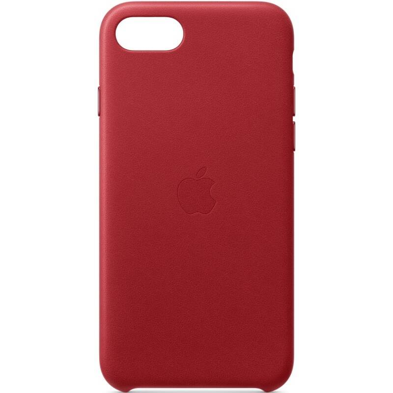 Kryt na mobil Apple Leather Case pre iPhone SE (2020) - (PRODUCT)RED - červený (MXYL2ZM/A)