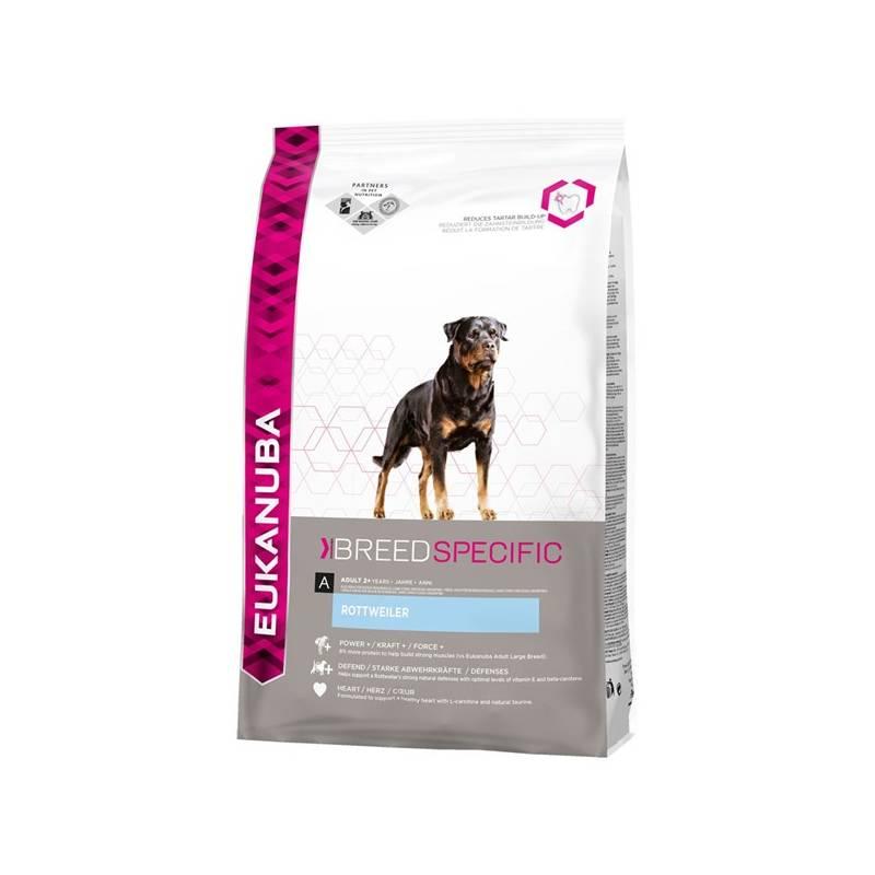 Granule Eukanuba Rottweiler 12 kg Antiparazitní obojek Scalibor Protectorband pro psy - 48 cm