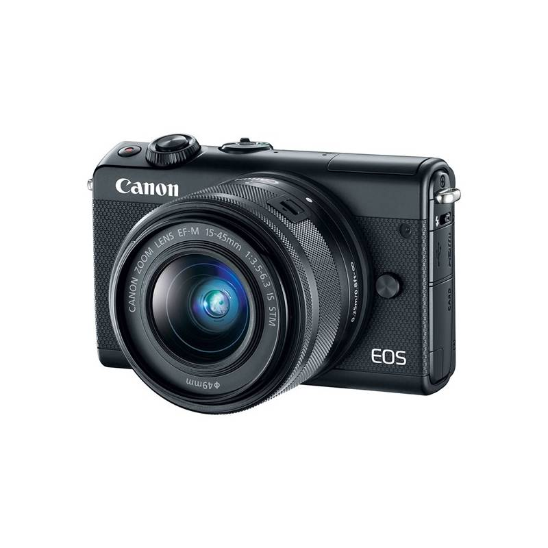 Digitálny fotoaparát Canon EOS M100 + EF-M 15-45mm IS STM (2209C096) čierny + Doprava zadarmo