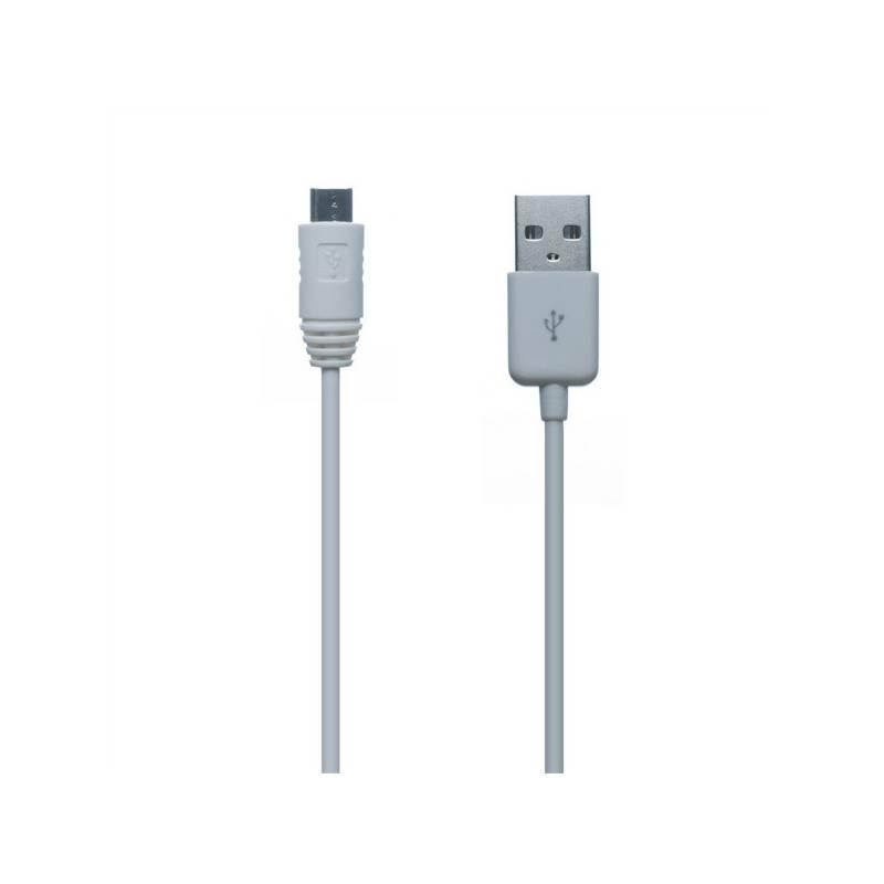 Kábel Connect IT Wirez MicroUSB, 1m (CI-146) biely
