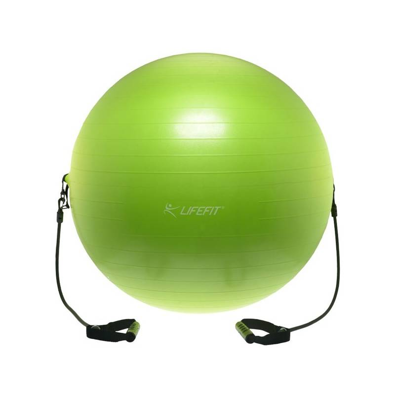 Gymnastická lopta LIFEFIT s expanderem GYMBALL EXPAND 75 cm zelený