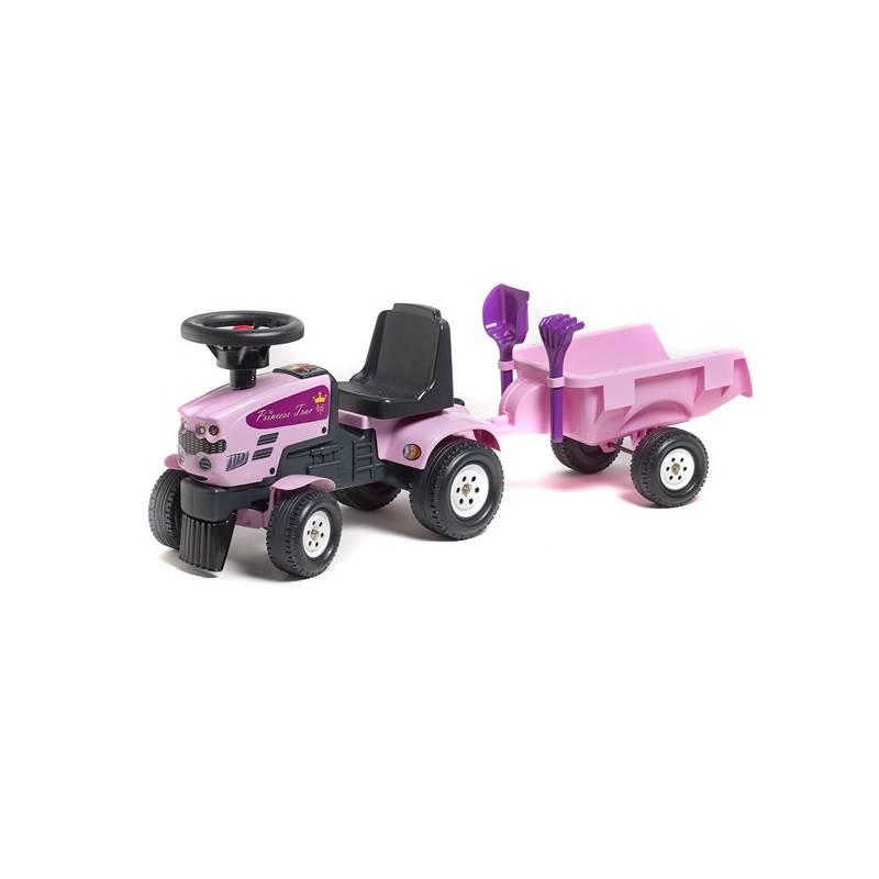 Odrážadlo plastové FALK - traktor Princess s volantem a valníkem plast