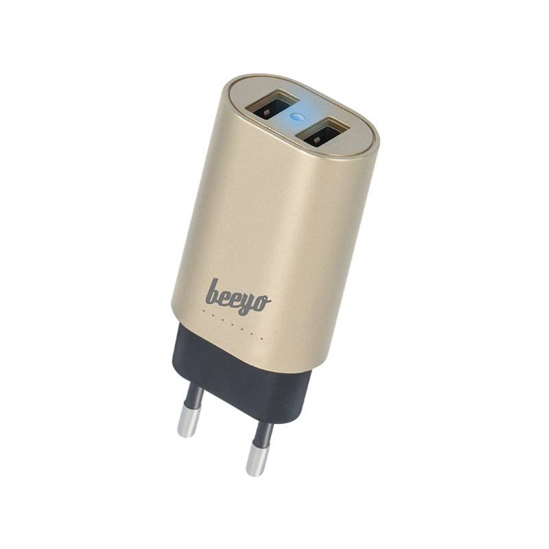 Nabíjačka do siete Beeyo 2x USB, 3,4A (ATCUSB34BEE2xGO) zlatý