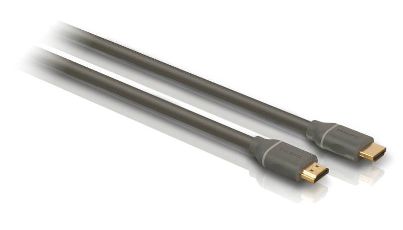 Kabel Philips HDMI, pozlacené konektory, 1,5m (SWV4432S/10) černý