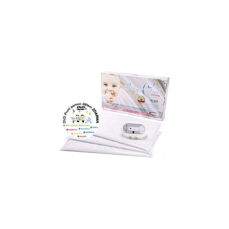 Monitor dychu Baby Control BC-230, tři senzorové podložky biela + Doprava zadarmo
