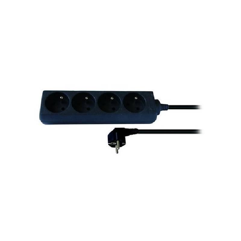 Kabel prodlužovací Solight 4 zásuvky, 3m černý