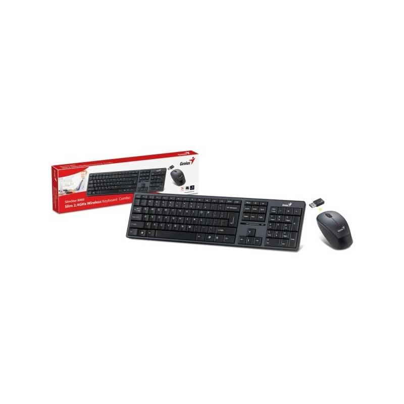 Klávesnica s myšou Genius Slimstar 8000ME, CZ/SK (31340045111) čierna