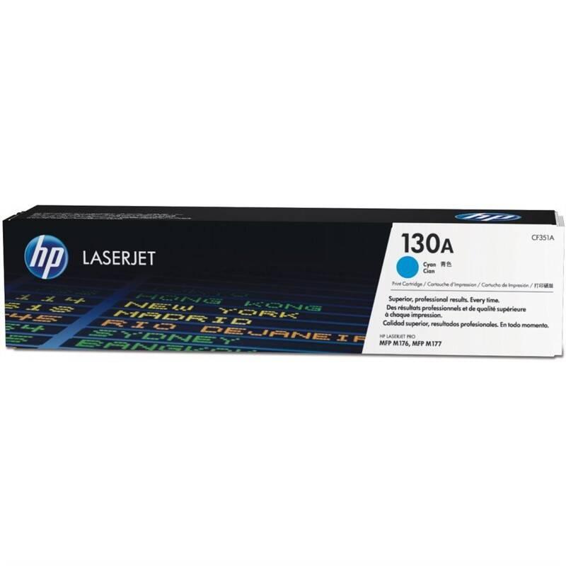 Toner HP 130A, 1000 stran (CF351A) modrý