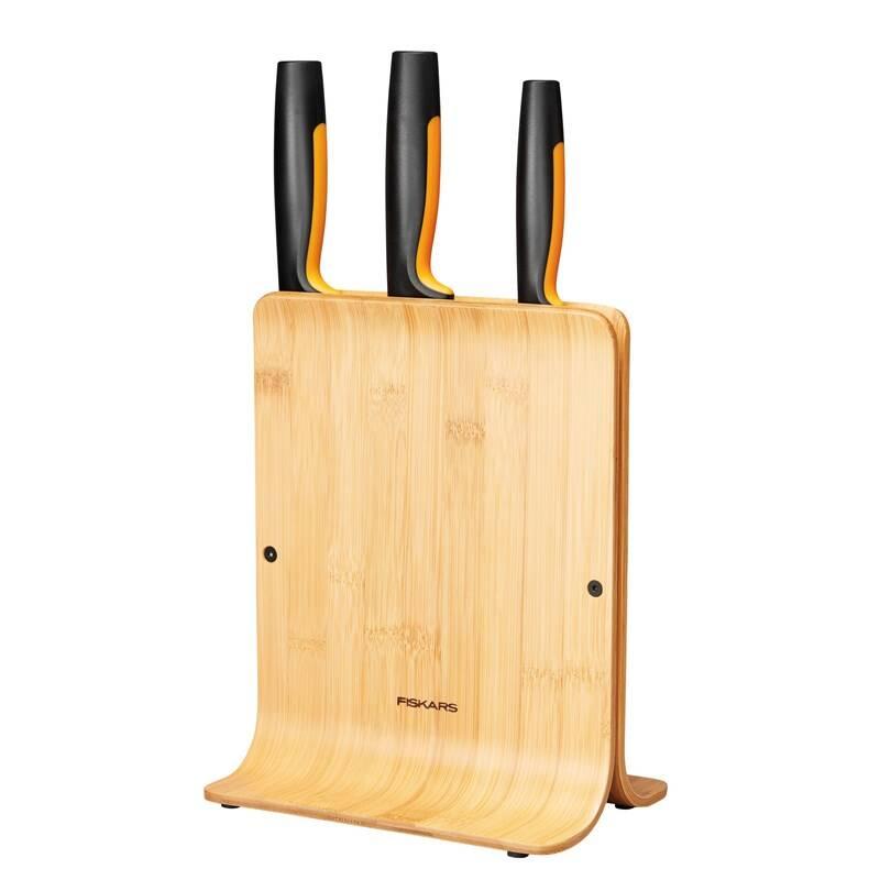 Sada kuchynských nožov Fiskars Functional Form 3 ks + blok + Doprava zadarmo