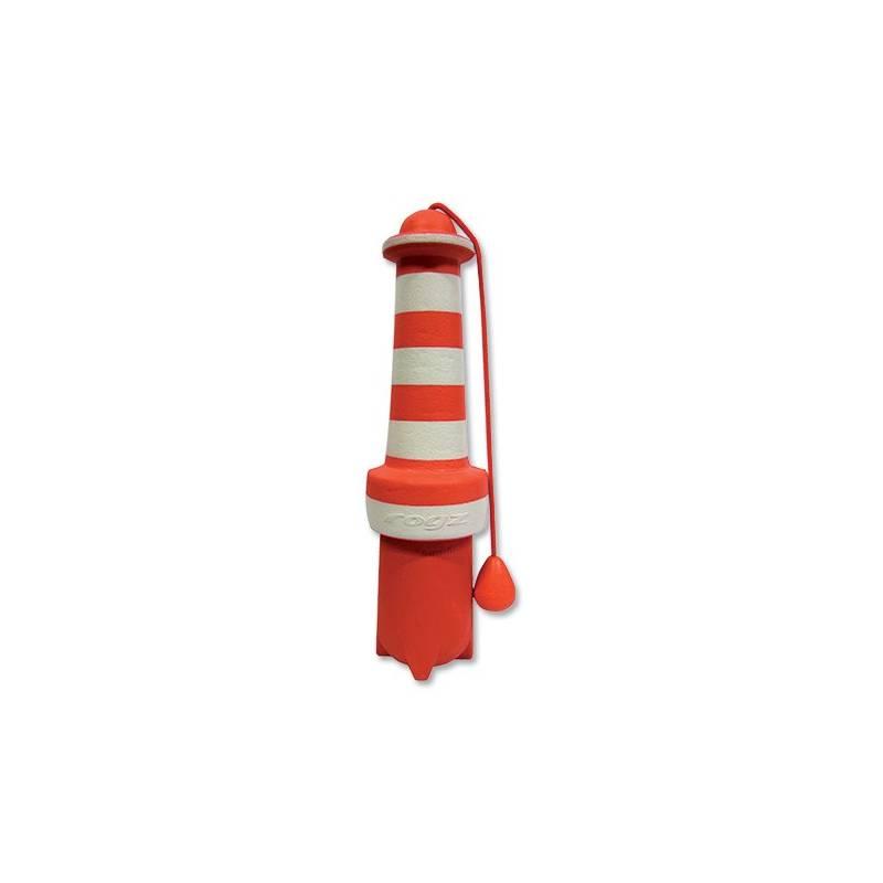 Hračka Rogz LightHouse gumová 25cm červená