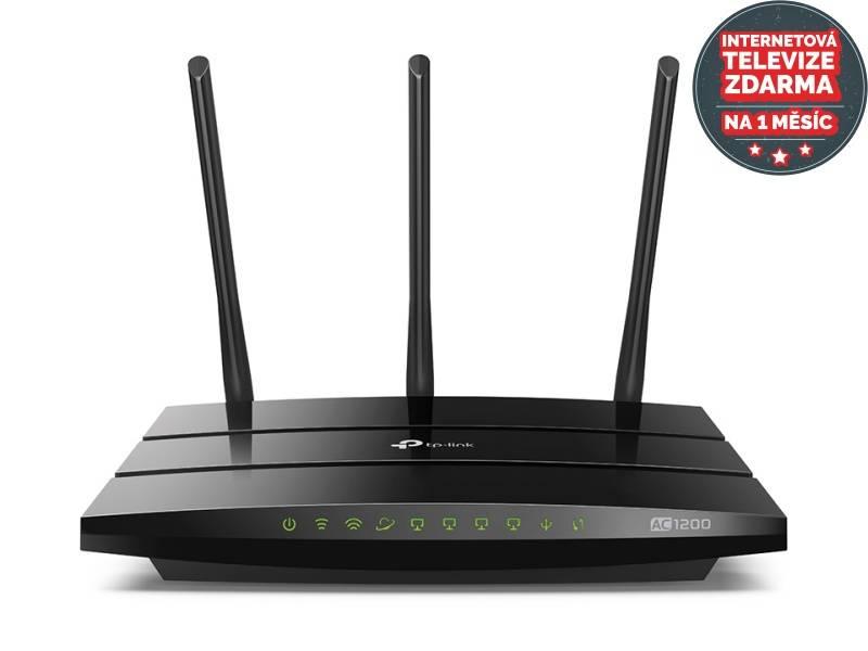 Router TP-Link Archer C1200 + IP TV na 1 měsíc ZDARMA (Archer C1200) čierny