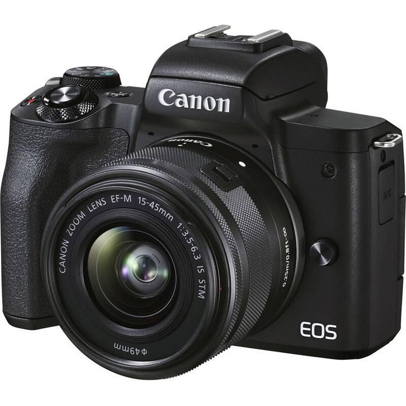 Digitálny fotoaparát Canon EOS M50 Mark II + EF-M 15-45 + SB130 + 16GB (4728C056) čierny + Doprava zadarmo