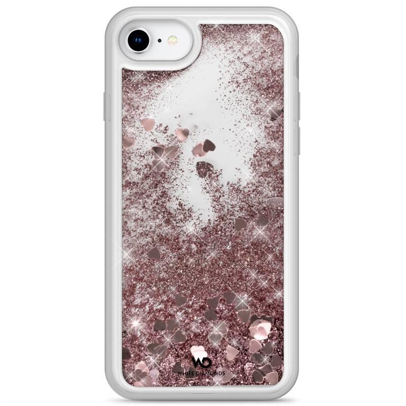 Kryt na mobil White Diamonds Sparkle Hearts na Apple iPhone SE (2020) (WD1340NSP11) ružový