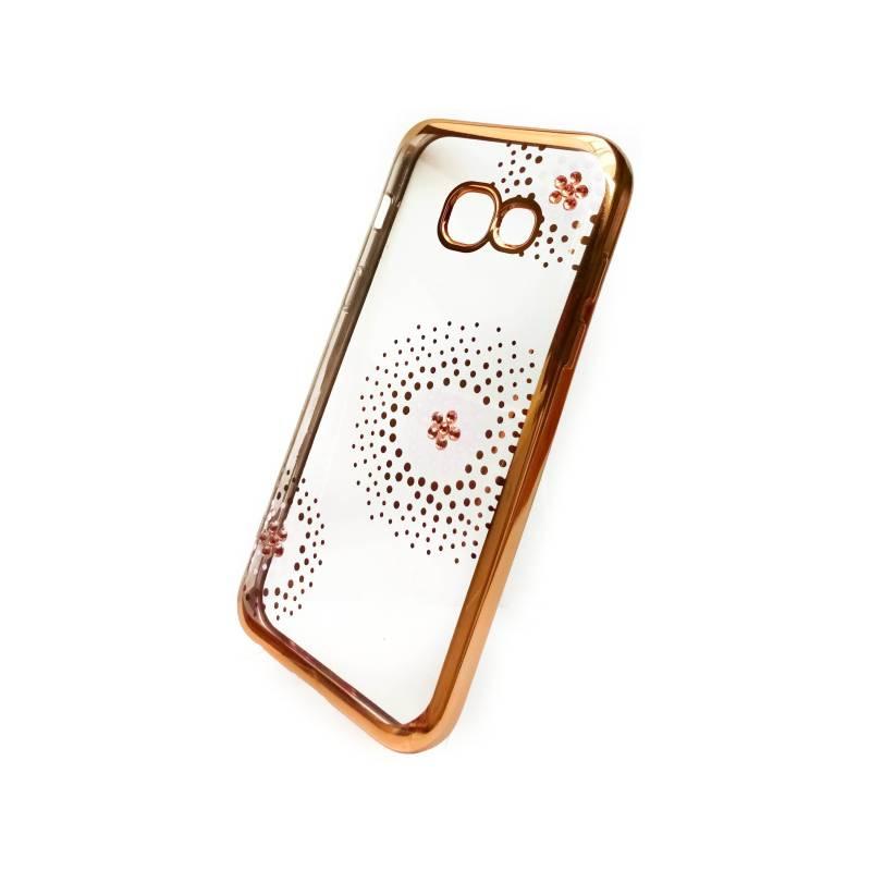 Kryt na mobil Beeyo Flower Dots pro Samsung Galaxy A3 (2017) (BEASAGAA32017TPUFLGO) zlatý