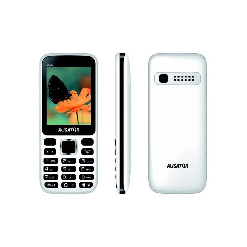 Mobilný telefón Aligator D930 Dual SIM (AD930WB) čierny/biely