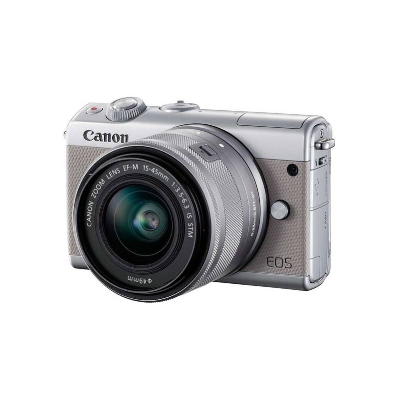 Digitálny fotoaparát Canon EOS M100 + EF-M 15-45mm IS STM (2211C067) sivý + Doprava zadarmo
