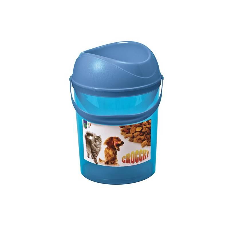 Box na krmivo Argi s miskou - 19,5 x 29,5 cm modré