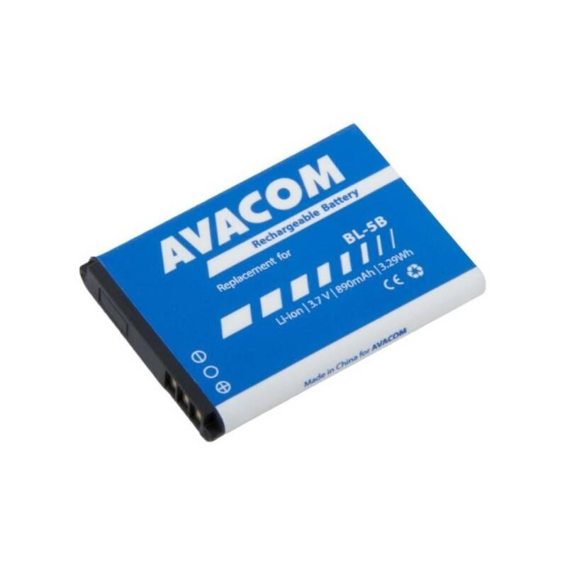 Batéria Avacom pro Nokia 3220, 6070, Li-Ion 3,7V 890mAh (náhrada BL-5B) (GSNO-BL5B-S890)