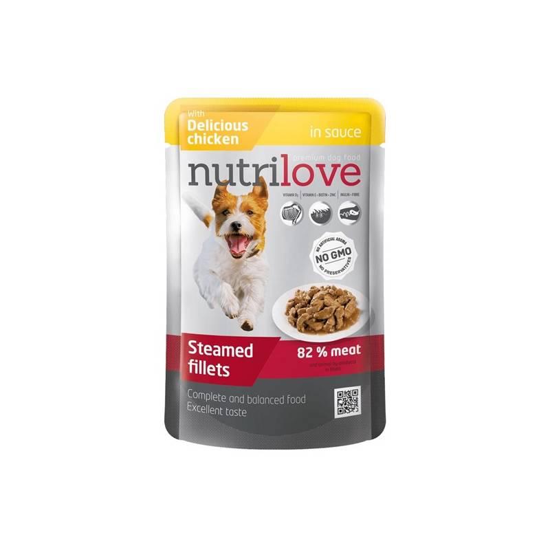 Kapsička Nutrilove Dog pouch Chicken gravy 85 g