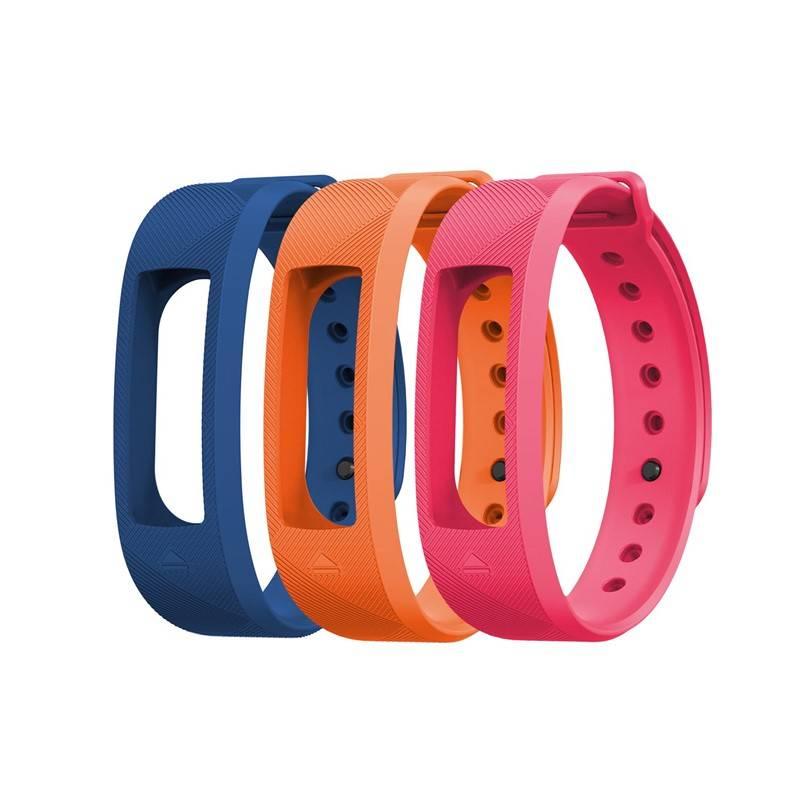 Výměnný pásek Evolveo pro FitBand B2 - 1x modrá, 1x oranžová a 1x růžová (FTD-B2-RS2)