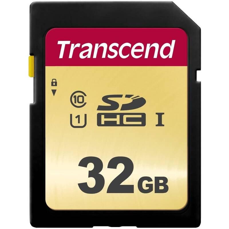Pamäťová karta Transcend 500S SDHC 32GB UHS-I U1 (Class 10) (95R/60W) (TS32GSDC500S)