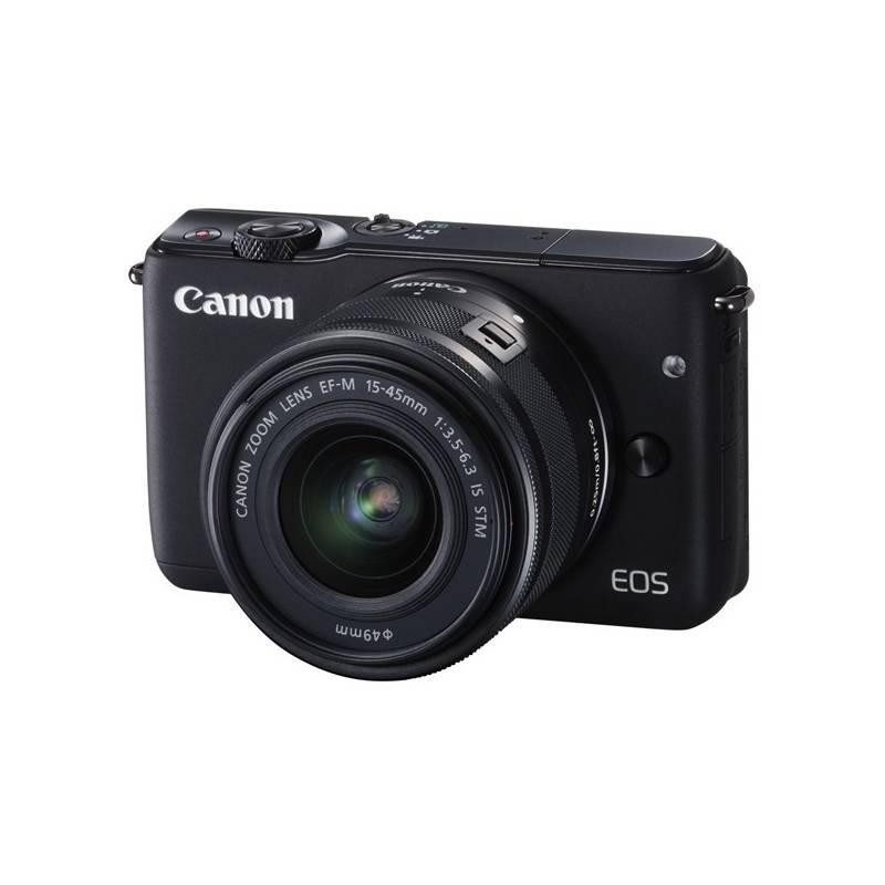Digitálny fotoaparát Canon EOS M10 + 15-45mm STM čierny Paměťová karta Kingston SDXC 64GB UHS-I U1 (90R/45W) (zdarma) + Doprava zadarmo